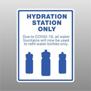 Covid-19 Hydration Station Sign